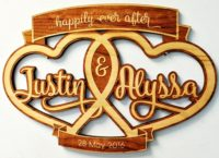 Wooden Wedding Sign Personalized 11.5″ x 7.5″