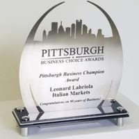 City Skyline Awards, Cut Stainless Steel, Pittsburgh