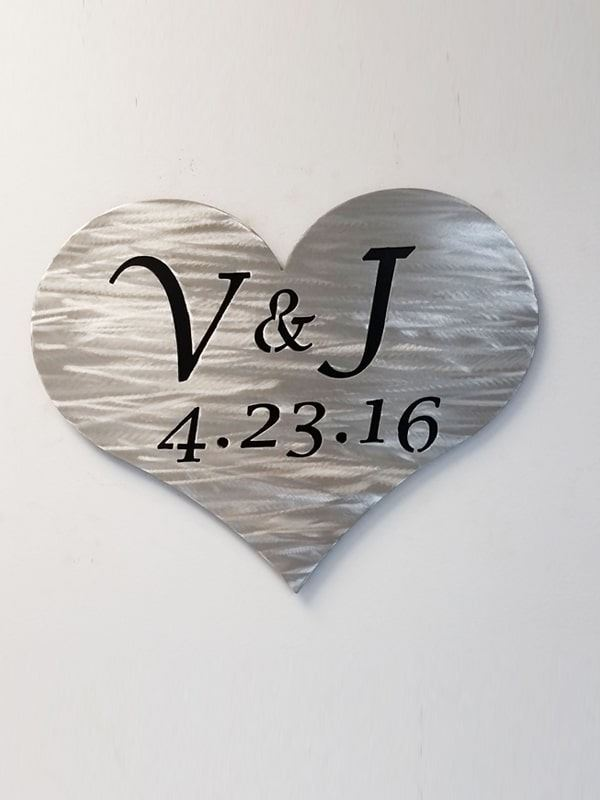 Personalized Metal Sign for Save the Date or Wedding