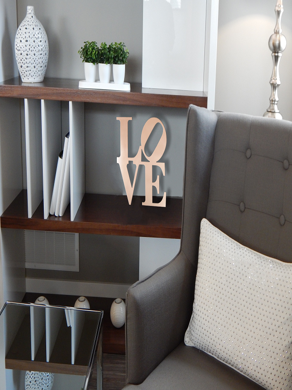 Love Large Metal Wall Sign, 12″ x 12″