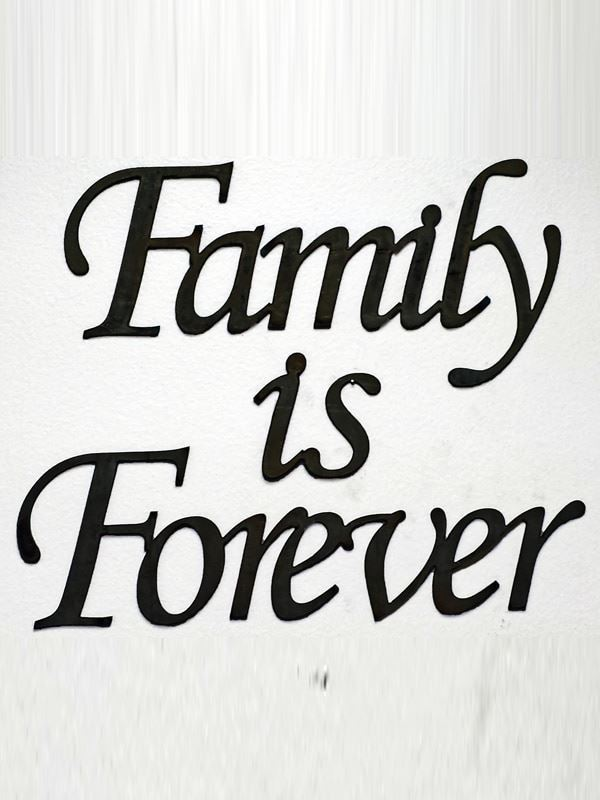 "Large ""Family is Forever"" Metal Wall Decor"