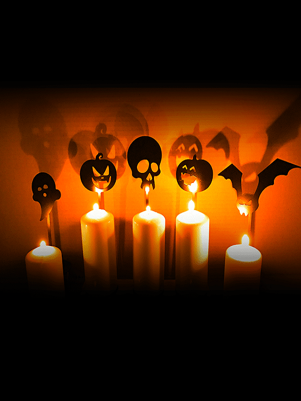 Halloween Candle Stands – 5 set of Black Metal (2)