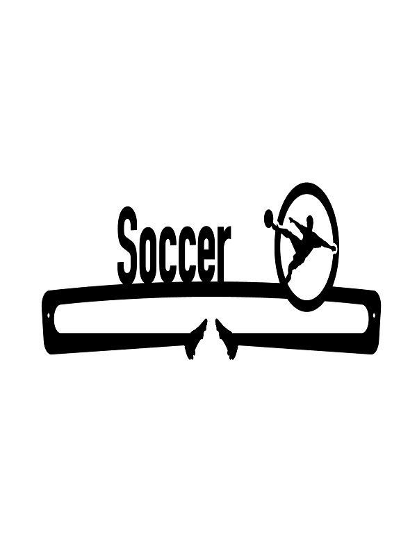 Soccer Medal Display, Personalized, 24″ Wide x 6.5″ Tall