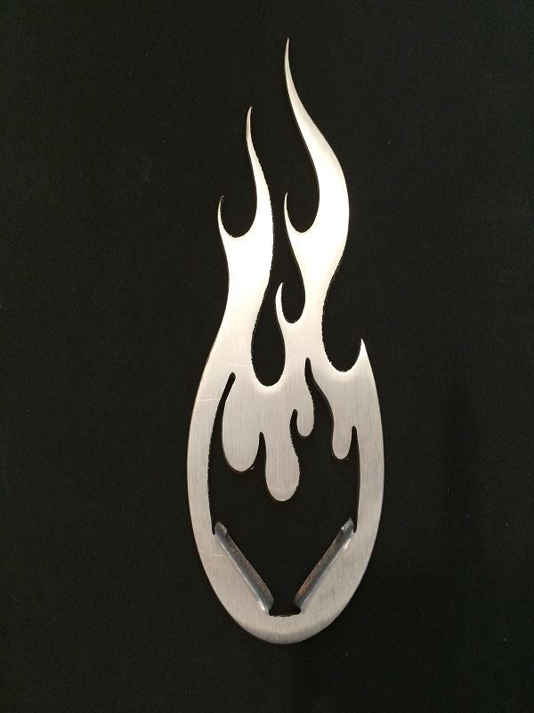 Stainless Steel Flame Kickstand Pad for Bike or Motorcycle