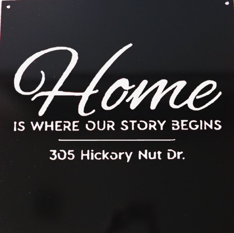 Metal Sign, Home is Where Our Story Begins