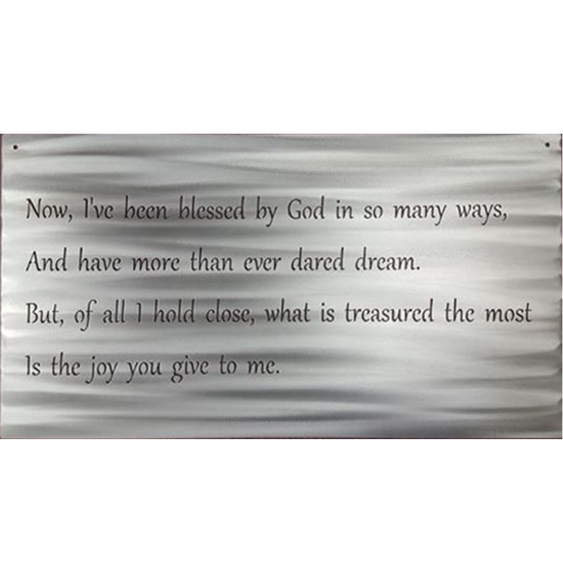 Metal Sign, Blessed by God in so many ways, 26″  x 14″