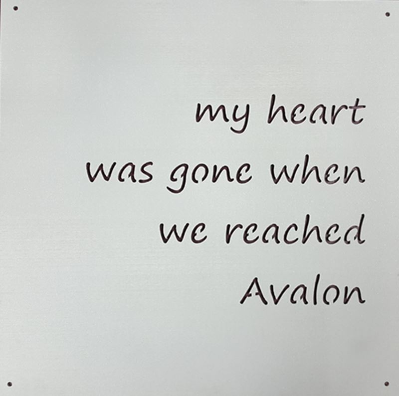 Metal Sign, My Heart Was Gone