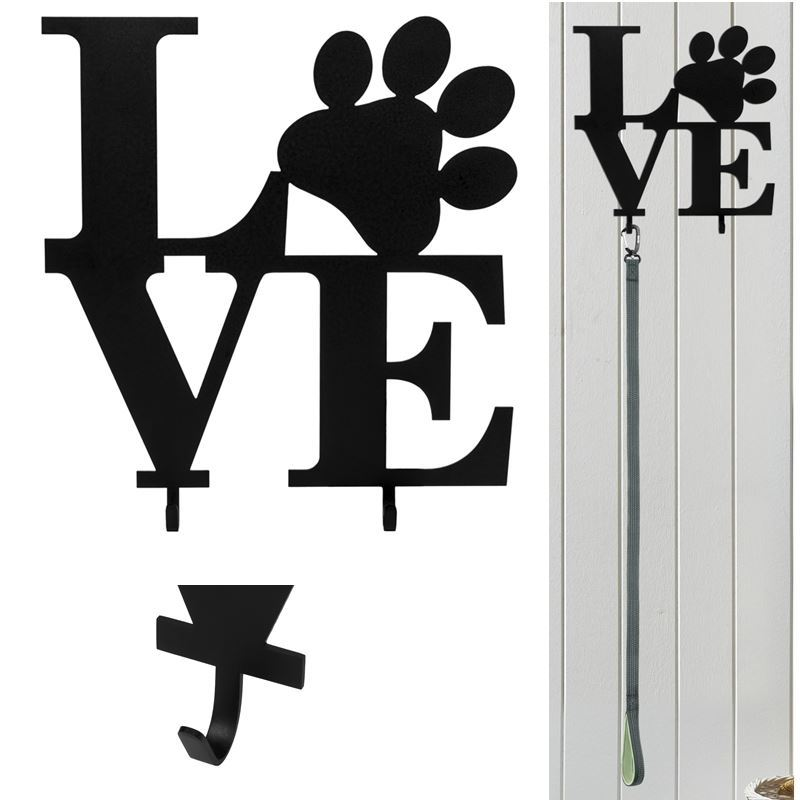 Love Paw Leash Holder, Pet Love, 12″ x 12″, Make it Personalized