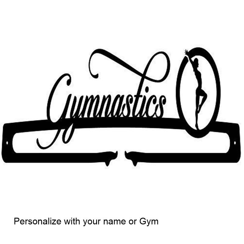 Gymnastics Medal Display, Personalized, 24″ Wide x 5 1/4″ Tall
