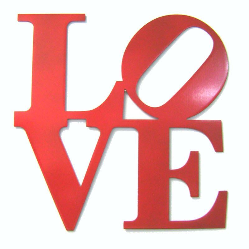 Love Park Metal Wall Sign,  12″ x 12″