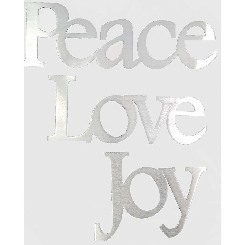 Peace Love Joy, Aluminum Signs, 3 in 1