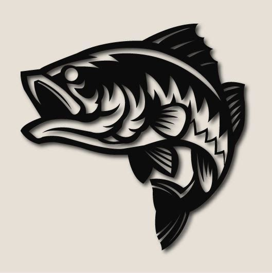 Bass Fish, Carbon Steel, 2 sizes available