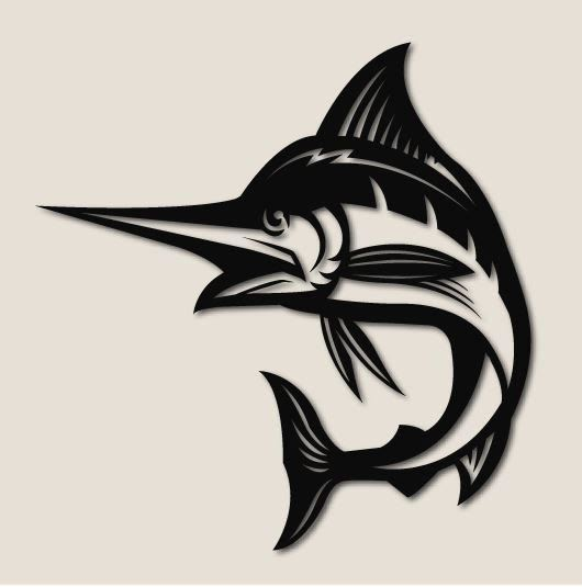 Marlin Fish, Carbon Steel, 2 sizes available